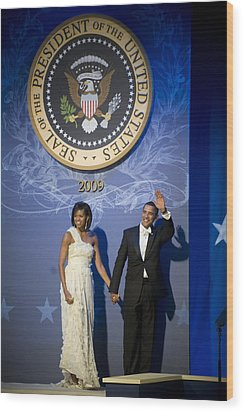 President And Michelle Obama Wood Print by had J McNeeley