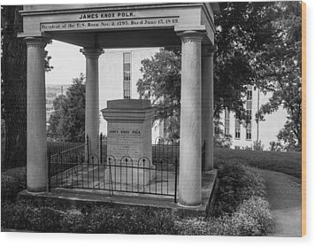 Wood Print featuring the photograph President James K Polk Tomb by Robert Hebert