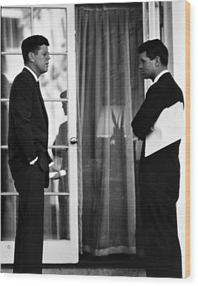 President John Kennedy And Robert Kennedy Wood Print by War Is Hell Store