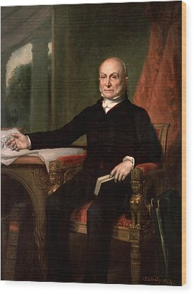 President John Quincy Adams  Wood Print by War Is Hell Store