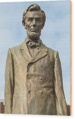 President Lincoln Statue Wood Print by Tikvah's Hope