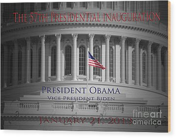 President Obama Inauguration Wood Print by Jost Houk