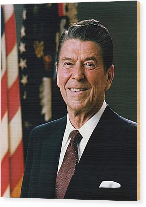 President Ronald Reagan Wood Print by Mountain Dreams