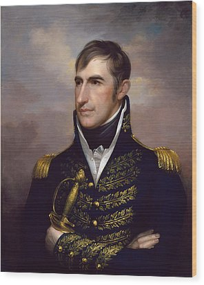 President William Henry Harrison Wood Print by War Is Hell Store