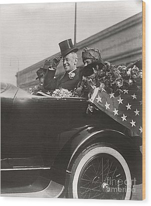 Wood Print featuring the photograph President Woodrow Wilson 1919 by Martin Konopacki Restoration