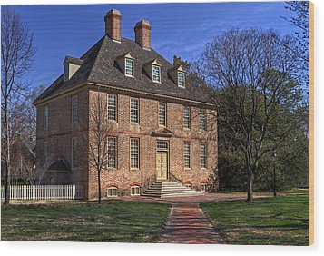Wood Print featuring the photograph President's House College Of William And Mary by Jerry Gammon