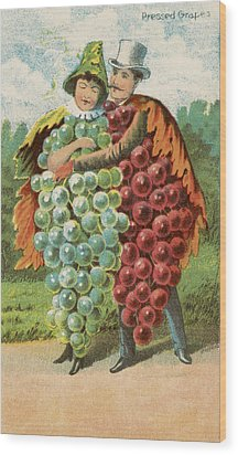 Pressed Grapes Wood Print by Aged Pixel