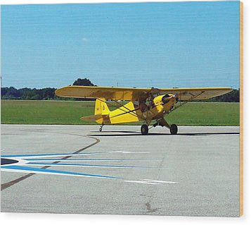 Wood Print featuring the photograph Preston Aviation Piper Cub  by Chris Mercer