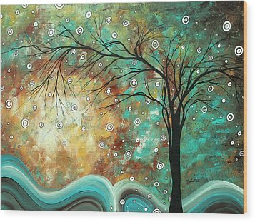 Pretty As A Picture By Madart Wood Print by Megan Duncanson