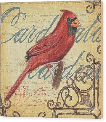 Pretty Bird 1 Wood Print by Debbie DeWitt
