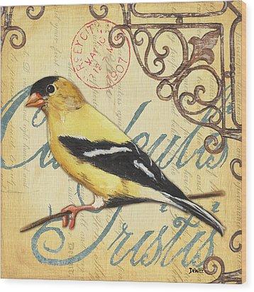 Pretty Bird 3 Wood Print by Debbie DeWitt