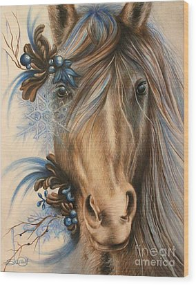 Pretty Blue Wood Print by Sheena Pike