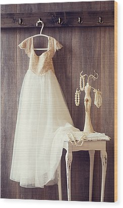 Pretty Dress Wood Print by Amanda Elwell