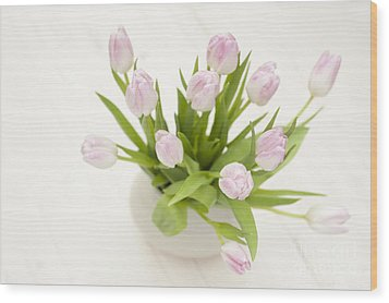 Pretty In Pink Wood Print by Anne Gilbert