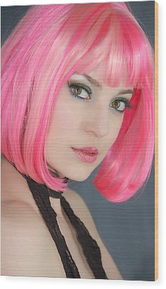 Wood Print featuring the photograph Pretty In Pink by Jim Poulos
