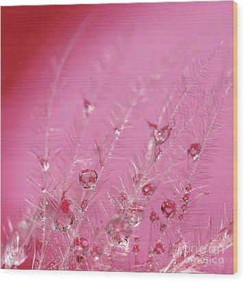 Pretty In Pink Wood Print by Karin Ubeleis-Jones