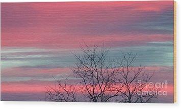 Pretty In Pink Sunrise Wood Print