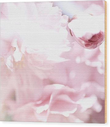 Pretty In Pink - The Sweet One Wood Print by Lisa Parrish