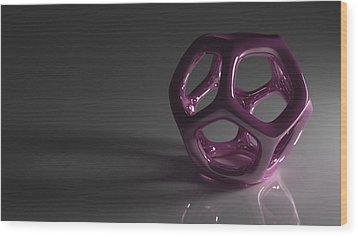 Pretty In Purple Wood Print by Troy Harris