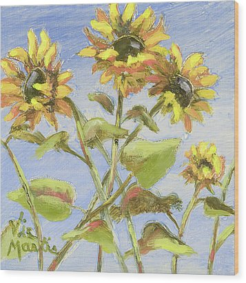 Wood Print featuring the painting Pretty In Yellow II by Vic  Mastis