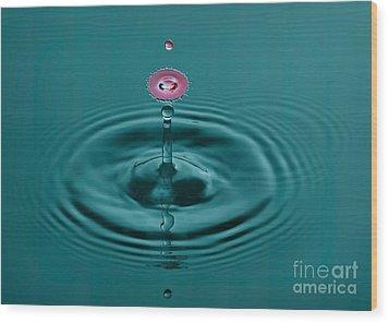 Pretty Liquid Pink Hat Wood Print by Susan Candelario