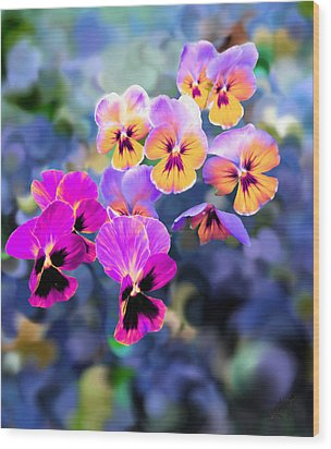 Pretty Pansies 3 Wood Print