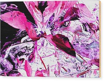Pretty Pink Weeds 5 Wood Print
