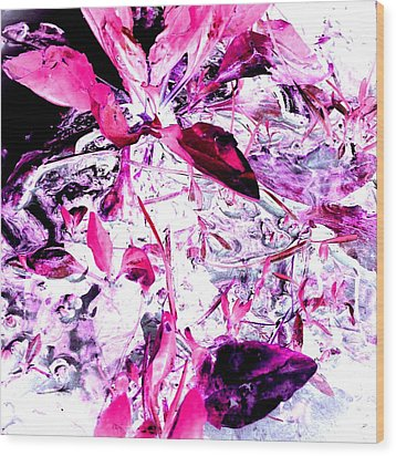 Wood Print featuring the photograph Pretty Pink Weeds 6 by Marianne Dow