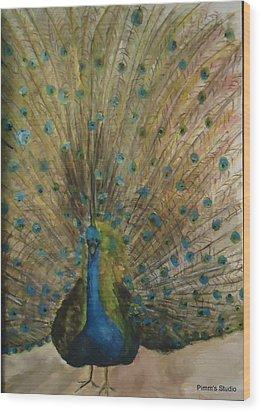 Pretty Plumage Wood Print by Betty Pimm
