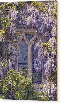 Pretty Window Wood Print by Svetlana Sewell