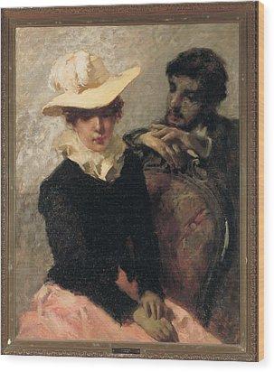 Previati Gaetano, Aurora The Painter Wood Print by Everett