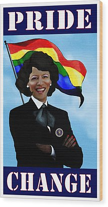 Pride And Change Wood Print by Jann Paxton