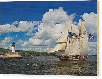 Pride Of Baltimore II Wood Print by Gregory Israelson