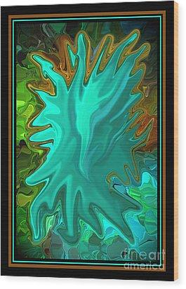 Pride The Screaming Eagle By Steven Langston Wood Print by Steven Lebron Langston