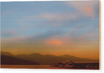 Priest Lake At Dusk Wood Print by David Patterson