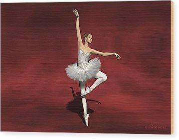 Prima Ballerina Kiko Pirouettes Pose Wood Print by Andre Price