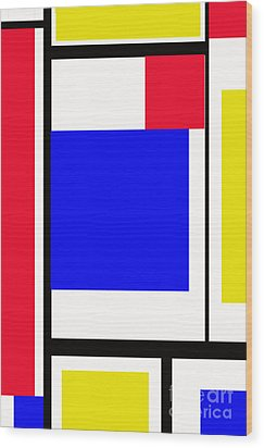 Primary Abstract Motivational Wood Print by Tom Gari Gallery-Three-Photography
