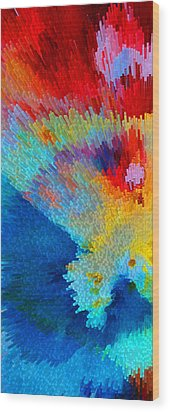Primary Joy - Abstract Art By Sharon Cummings Wood Print by Sharon Cummings