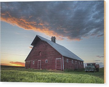 Primary Palouse Colors Wood Print
