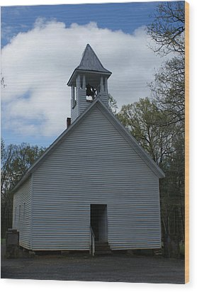Primative Baptist Church In Cades Cove Wood Print by Roger Potts