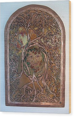 Primeval Forest Mother Wood Print