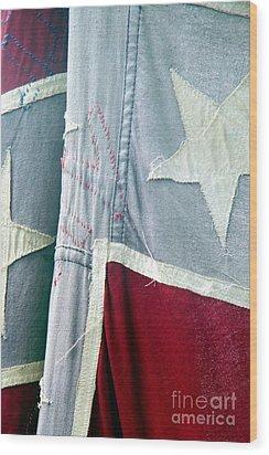Primitive Flag Wood Print