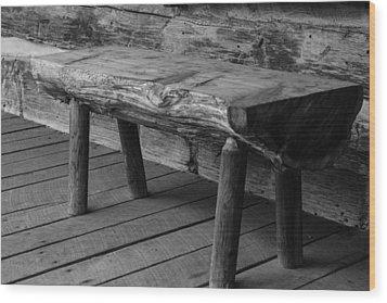 Wood Print featuring the photograph Primitive Wooden Bench by Robert Hebert