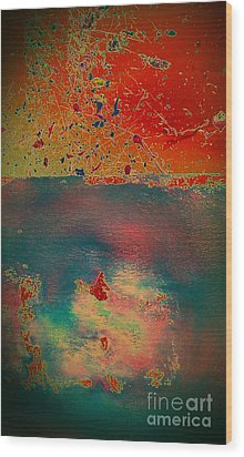 Wood Print featuring the painting Primordial by Jacqueline McReynolds