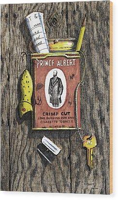 Prince Albert Nailed To The Wall Wood Print by Bob Hallmark