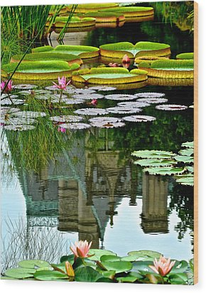 Prince Charmings Lily Pond Wood Print by Frozen in Time Fine Art Photography
