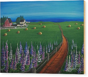 Prince Edward Island Coastal Farm Wood Print