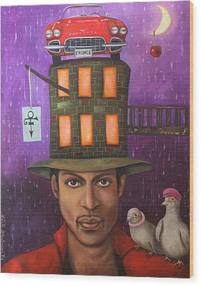 Prince Wood Print by Leah Saulnier The Painting Maniac