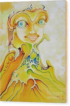Prince Of Deep Sea Wood Print by Alexa Szlavics