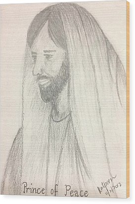 Prince Of Peace Wood Print by Kat Poon